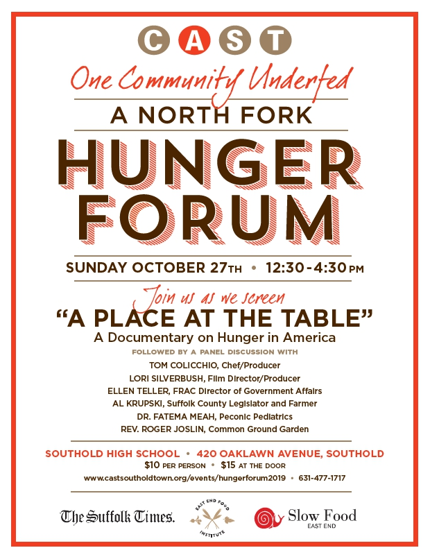 One Community Underfed:  A North Fork Hunger Forum